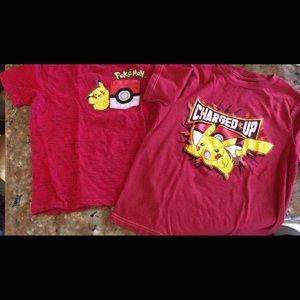 2 Pokémon shirts size S